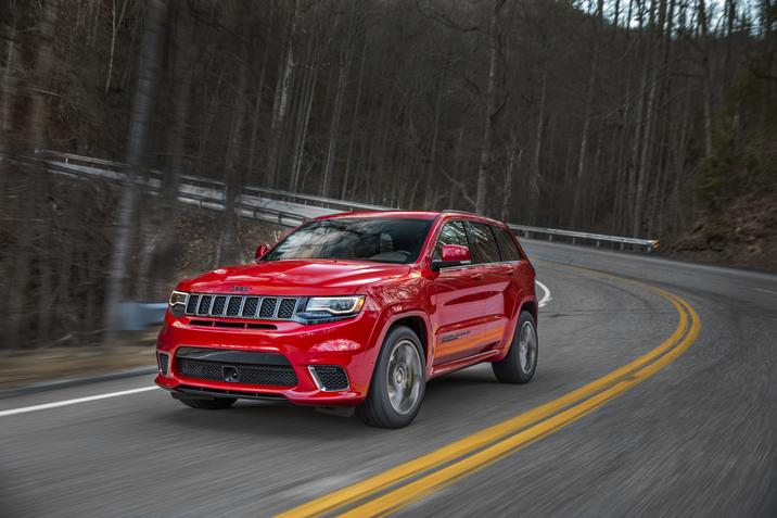 2018 Jeep Grand Cherokee Trackhawk Red Front Exterior