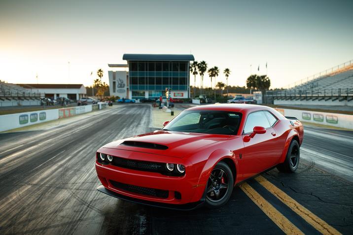 2018 Dodge Challenger SRT Demon Front Red Exterior