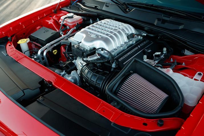 2018 Dodge Challenger SRT Demon Red Machinery Interior