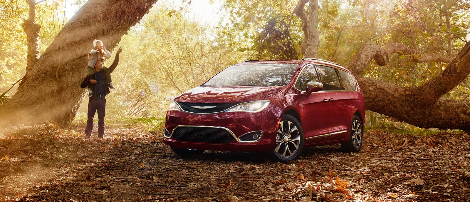 2017 Red Pacifica Exterior Forest