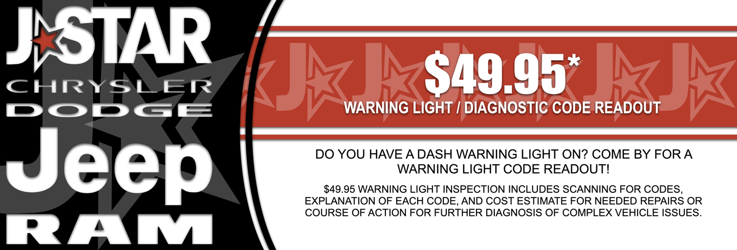 $49.95 WARNING LIGHT / DIAGNOSTIC CODE READOUT